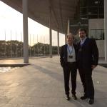 Con l'amico e collega Gianni Scialpi.